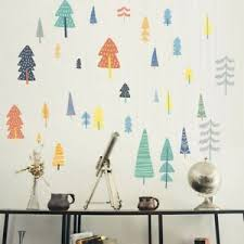 Woodland Wall Decal Forest Tree Wall Decal Nordic Vinyl Sticker Diy Home Decor Ebay