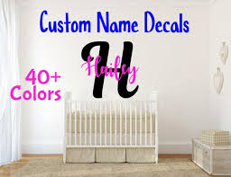 Monogram Decals Name Wall Decor Nursery Decor Kids Room Baby Etsy