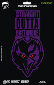 Straight Outta Baltimore Ravens Nfl Football Team Decal Sticker Car Truck Laptop Suv Window Team Decal Baltimore Ravens Baltimore Ravens Football