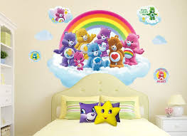 Amazon Com Care Bears Large Rainbow Cloud Wall Decal Set Arts Crafts Sewing