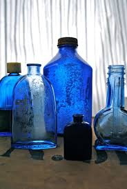 Pin by Ada Peterson on Vintage Glass | Blue bottle, Colored glass bottles,  Blue glass
