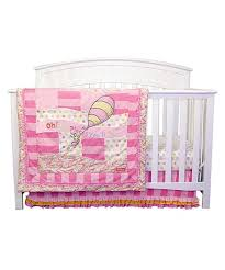 places youll go pink crib bedding set
