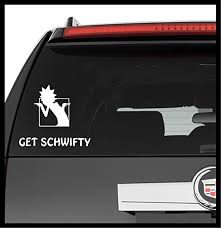 Amazon Com A Design World Decals For Cars Rick And Morty Get Schwifty Vinyl Decal Truck Car Laptop Wall Sticker Home Kitchen