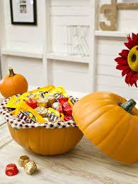 how to make a pumpkin candy dish