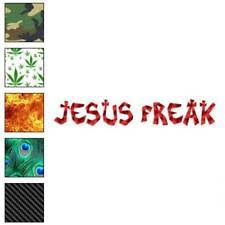 3x9 Inch Red Oval Jesus Freak Bumper Sticker Decal Religious Christian For Sale Online Ebay