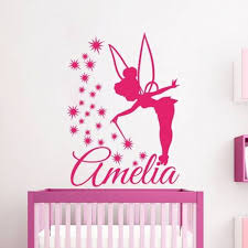 Personalized Name Wall Decals Fairy Decal Vinyl Sticker Angel Star Girl Nursery Bedroom Decor Art Murals Ah163 Wall Decal Fairy Name Wall Decals Wall Decals