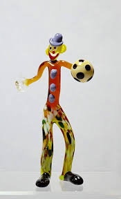 authentic murano glass clown figurine