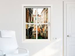 3d Window Wall Decal Window To Venice Wall Stickers By Stickdecor Wall Mural Decals Window Wall Wall Decals