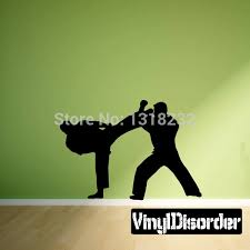 Martial Arts Two Boys Karate Vinyl Wall Decal Or Car Sticker Bedroom Kids Room Home Decoration Removeable Wall Decals Vinyl Wall Decals Removable Wall Decalswall Decals Aliexpress