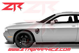 Dodge Challenger Skull Emblem Decals Ztr Graphicz