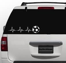 Soccer Car Decal Socer Life Soccer Heartbeat Custom Soccer Decal Soccer Sticker Sports Decal Soccer Car Sticker Football Decal