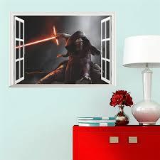 Fake 3d Window Darth Vader Star War Figure Wall Stickers For Kids Room Decor 1479 Home Decals Movie Art Wallpaper Boy S Gift Sticker For Kids Room Wall Stickers For Kidswall Sticker Aliexpress