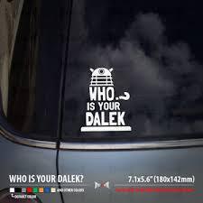 Doctor Who Dalek Daddy Tardis Car Laptop Funny Sticker Decal Ebay