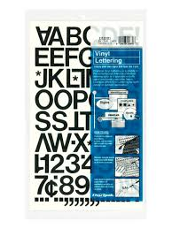 Chartpak Pickett Vinyl Letters And Numbers 1 Black Office Depot