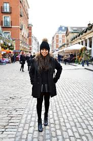 all black winter outfit fashion and