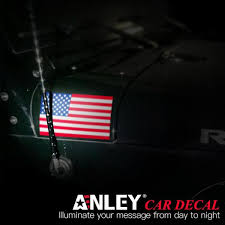 Anley 5 In X 3 In American Us Flag Decal Patriotic Stars Reflective Stripe Usa Flag Car Stickers 4 Pack A Flag Decal Us Set The Home Depot