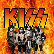 kiss band duvet cover by