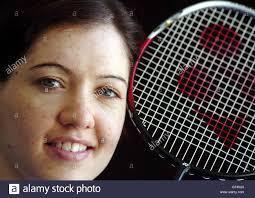 OLYMPICS Badminton player Kelly Morgan Stock Photo - Alamy