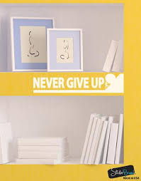 Never Give Up Wall Decal Quote Over The Door Vinyl Sticker 6092 Stickerbrand