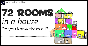 rooms in a house 72 diffe rooms