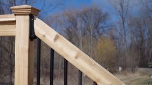 Stair Deck Railing Connectors 2x6 Brackets Available Decksdirect