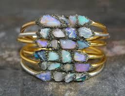 bracelets raw opal jewelry opal