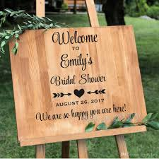 New Design Bridal Shower Welcome Sign Wall Sticker Wedding Decor Personalized Wedding Glass Or Mirror Vinyl Decal Stickers Wall Decals For Nursery Wall Decals For Sale From Joystickers 14 02 Dhgate Com