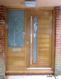 door with side panel contemporary oak