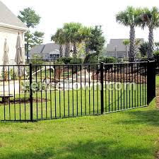 Black Aluminum Fence Black Swimming Pool Fence Fencetown
