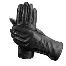 mens cashmere lined leather gloves in