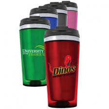 Colored Stainless Steel Travel Mug 16oz With Full Color Decal Sparta Pewter Usa