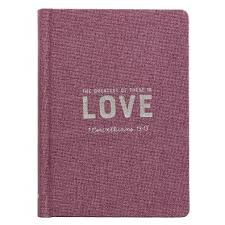 journals hardcover linen love purple