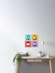 Teenage Mutant Ninja Turtles Pop Art Poster By Mykowu Redbubble