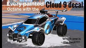 Every Painted Octane With The Cloud 9 Decal Youtube