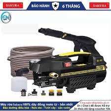Máy xịt rửa mini - máy rửa xe sakura - 1800W - motor từ- tự hút nước - có  video