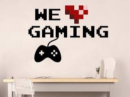 We Love Gaming Wall Decal Playstation Video Game Wall Etsy