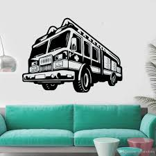 Fire Car Wall Decal Firefighter Wall Vinyl Stickers New Design Car Style Wall Murals Engine Fireman Removable Wallpaper Wall Vinyl Decals Wall Vinyl Sticker From Joystickers 8 96 Dhgate Com