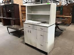 hof vintage metal kitchen hutch