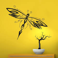 Wall Decals Dragonfly Insect Fly Decal Bedroom Art Vinyl Sticker Decor Wish