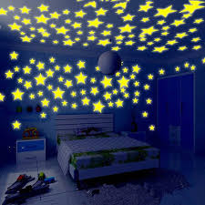Home Furniture Diy 100 Pcs Wall Stickers Glow In The Dark Star Vinyl Decal Baby Room Decor Fi Kisetsu System Co Jp