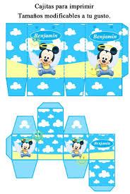 Kit Imprimible De Mickey Mouse Bebe Tarjetas Bautismo Y Mas