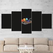Pac Man 01 Ghostbuster Minimalist 5 Piece Canvas Wall Art Gaming Canva