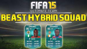 FIFA 15 - BEAST HYBRID SQUAD BUILDER | UNBEATEN Emenike + Doumbia Hybrid  Squad w/ Gameplay - YouTube