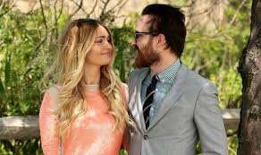 Breaking Bad star Aaron Paul cosies up to his wife Lauren Parsekian at Polo  Classic   Celebrity News   Showbiz & TV   Express.co.uk