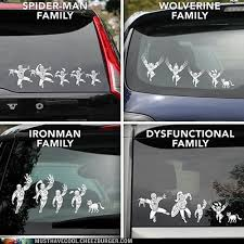 Marvel Superhero Family Car Decals Must Have Cool Cool Collectible Geeky Products