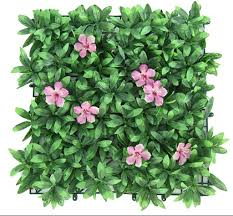 Ynfngxu Artificial Hedge With Floral Imitation Green Privacy Screen Background Plastic Garden Fake Fence Pad Panel Lattice Wall Decoration 50 X 50 Cm Color 04 Amazon Co Uk Kitchen Home