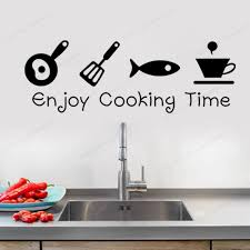 Kitchen Utensils Vinyl Decal Wall Stickers Home Kitchen Decor Removable Wall Art Muralhj195 Wall Stickers Aliexpress
