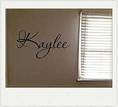 Amazon Com Newsee Decals Kaylee Girls Room Name Nursery Baby Kids Pretty Vinyl Wall Quote Sticker By Pureg Furniture Decor