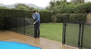 Pool Fence Aqua Net S Removable Pool Fence Lightweight Pool Fencing