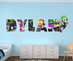 Amazon Com Splatoon Custom Name 3d Personalized Wall Decal Sticker Kids Wall Decor Art Vinyl Wall Decal Ma199 Medium Wide 36 X 10 Height Home Kitchen